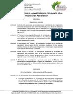 Normas Del Premio a La Investigacion Estudiantil de La Facultad de Agronomia