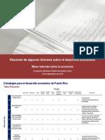 Resumen de Informes Sobre PR 2003-2010