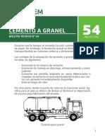 Boletin 54 Cemento a Granel