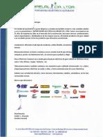 Carta de Presentación Impelal CIA Ltda