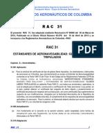 RAC  31 - Estándares Aeronavegabilidad Globos libres Tripulados.pdf