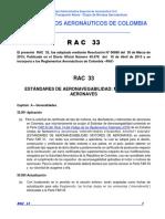 RAC  33 - Estándares Aeronavegabilidad Motores de Aeronaves.pdf