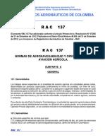RAC  137 - Normas de Aeronavegabilidad y Operaciones en Aviación Agrícola.pdf
