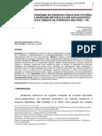 EFEITO DE UM PROGRAMA DE EXERCÍCIO FÍSICO NOS FATORES DE RISCO PARA SÍNDROME METABÓLICA EM ADOLESCENTES SOBREPESADOS E OBESOS DE FRANCISCO BELTRÃO -PR.pdf