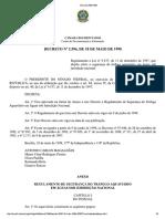 Decreto n. 2596 de 18 de Maio de 1998 - RLESTA