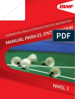 Bwf Coach Education Coaches Manual l1 Sp Complete Final Lowres