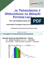 Aspectos Tecnológicos e Operacionais Da Geração Fotovoltaica