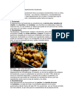 Comidas Típicas Por Departamentos Guatemala