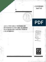 3047-93 Coliformes COVENIN.pdf