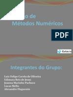 Apresentação - Projeto de Métodos Numéricos super novo.pptx