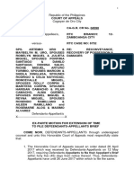 Motion for Extension to File Defendants-Appellants Brief