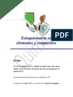 Estequiometría en Elementos y Compuestos