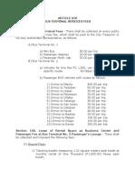 Bus Terminal Provisions - Revenue Code