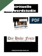 Spirituelle Keyword Analyse - Hohe Feste