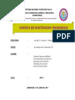 Cinética de Inactivación de Microorganismos (1)