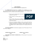 Affidavit of Change of Venue