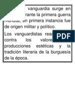 Movimientos Vanguardistas Del Siglo Xx. Español