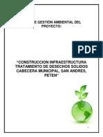 Pga Construccion Infraestructura Tratamiento de Desechos Solidos Cabecera Municipal, San Andres, Peten
