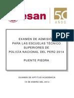 Examen Ets Pnp 2014 - Puente Piedra