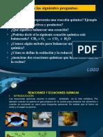 Reacciones y Ecuaciones Químicas Ppt