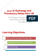CA CPT Fundamentals of Accounting PPT Bills of Exchange and Promissory Notes Part 1
