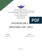 Historia de Vida- Sinopsis