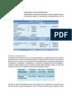 Análisis de costo y beneficio de la empresa ESTUR