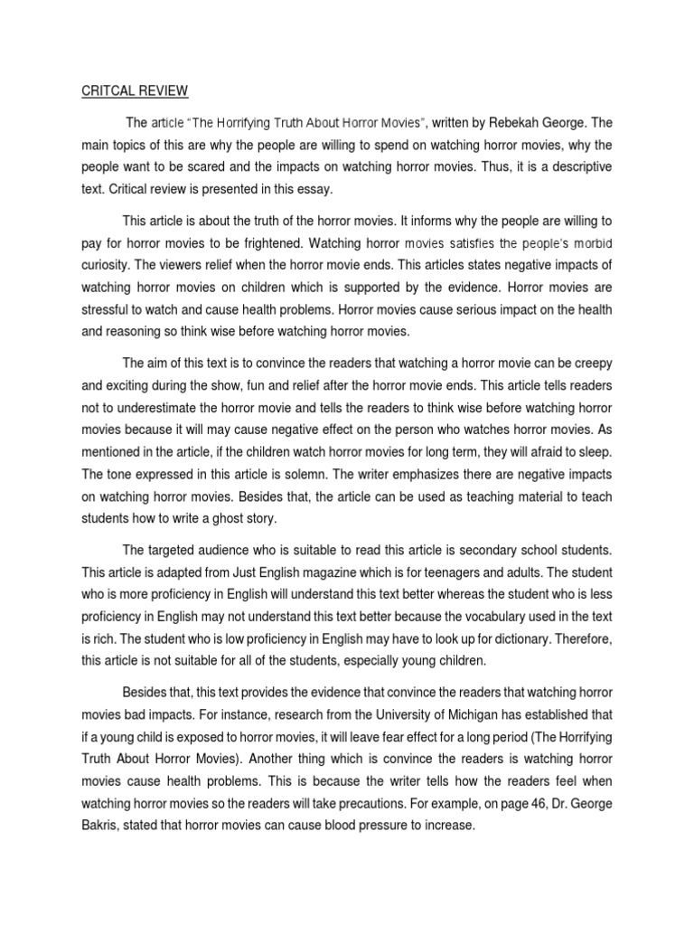 english essay horror story Opening to a horror story they told him the house was haunted they told him the house was + all horror essays: who was ww english horror story.