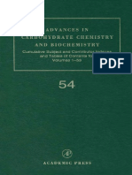(Advances in Ccarbohydrate Chemistry and Biochemistry Volume 54) Derek Horton-Cumulative Subject and Author Indexes, And Tables of Contents for Volumes 1-53-Academic Press (1999)