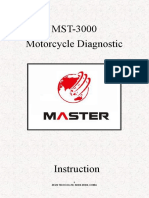 Master MST3000 Motorcycle Scanner User Manual