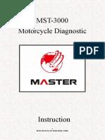 Master MST3000 Motorcycle Scanner User Manual