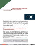 Imagen Social e Identidad Profesional de La Psicología
