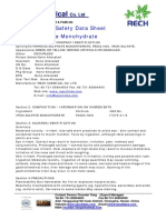 Msds of ferrous sulphate monohydrate from Rech Chemical Co. LTD