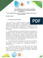 Guia Para El Desarrollo de La Fase 3. Definir, Describir, Analizar y Evaluar Las Alternativas de Tratamiento
