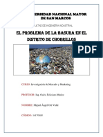 El Problema de La Basura en El Distrito de Chorrillos