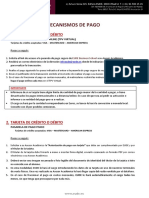 Mecanismos de Pago EUDE 2017