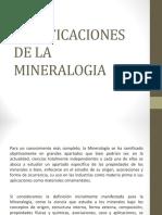 Ramificaciones de La Mineralogía