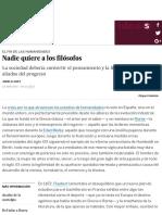 Humanidades Nadie Quiere a Los Filo Sofos - Cultura - EL PAI S