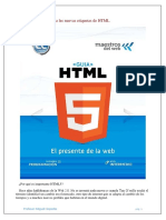 Unidad 1. Introducción a Las Nuevas Etiquetas de HTML