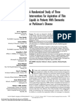 PAPER [ENG] - A Randomized Study of Three Interventions for Aspiration of Thin Liquids in Patients With Dementia or Parkinson's Disease