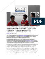 US DEPARTMENT OF JUSTICE FORFEITURE LAWSUIT OF 1MDB LINKED  ASSETS