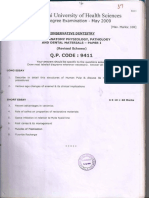 RGUHS Endo Question Papers
