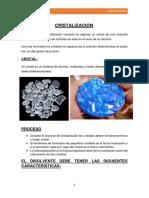Cristalizacion Operaciones Unitarias