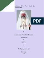 Comemorarea Patriarhilor Romaniei Teoctist si Iustin (2010)