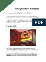 Turismo en Bares y Discotecas de Tarapoto