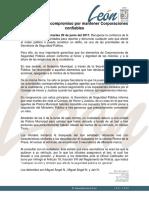 Comunicado de SSP León sobre tres detenidos, ninguno es hijo de comandante
