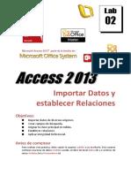 Lab02 2013 Importar Datos y Relaciones