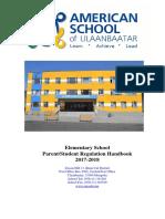 Parent Student Regulation Handbook 2017-2018 Eng