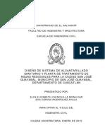 Diseño de sistema de alcantarillado sanitario y planta de tratamiento de aguas residuales para la ciudad de San Jose Guayabal%2C municipio de San Jose Guayabal%2C departamento de Cuscatlán.pdf