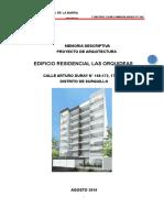 Memoria Descriptiva Proyecto Arquitectura Surquillo